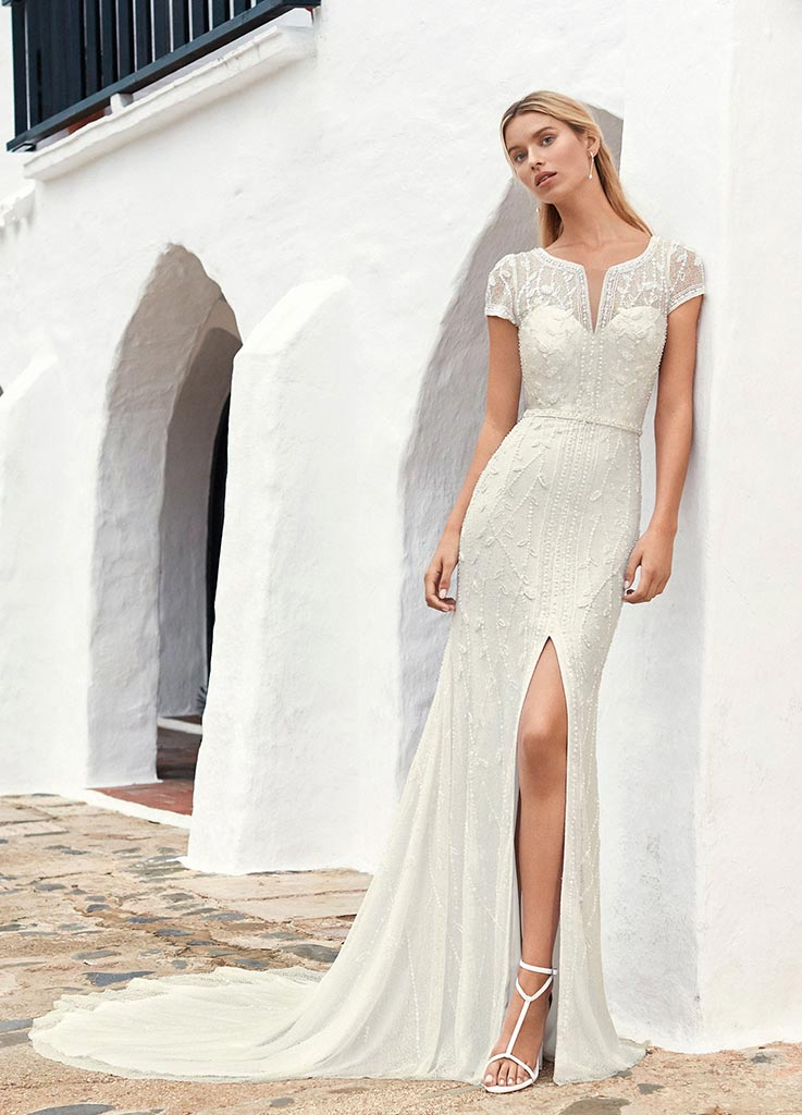 The Moonlight dress by Aire Barcelona wedding dresses (front)