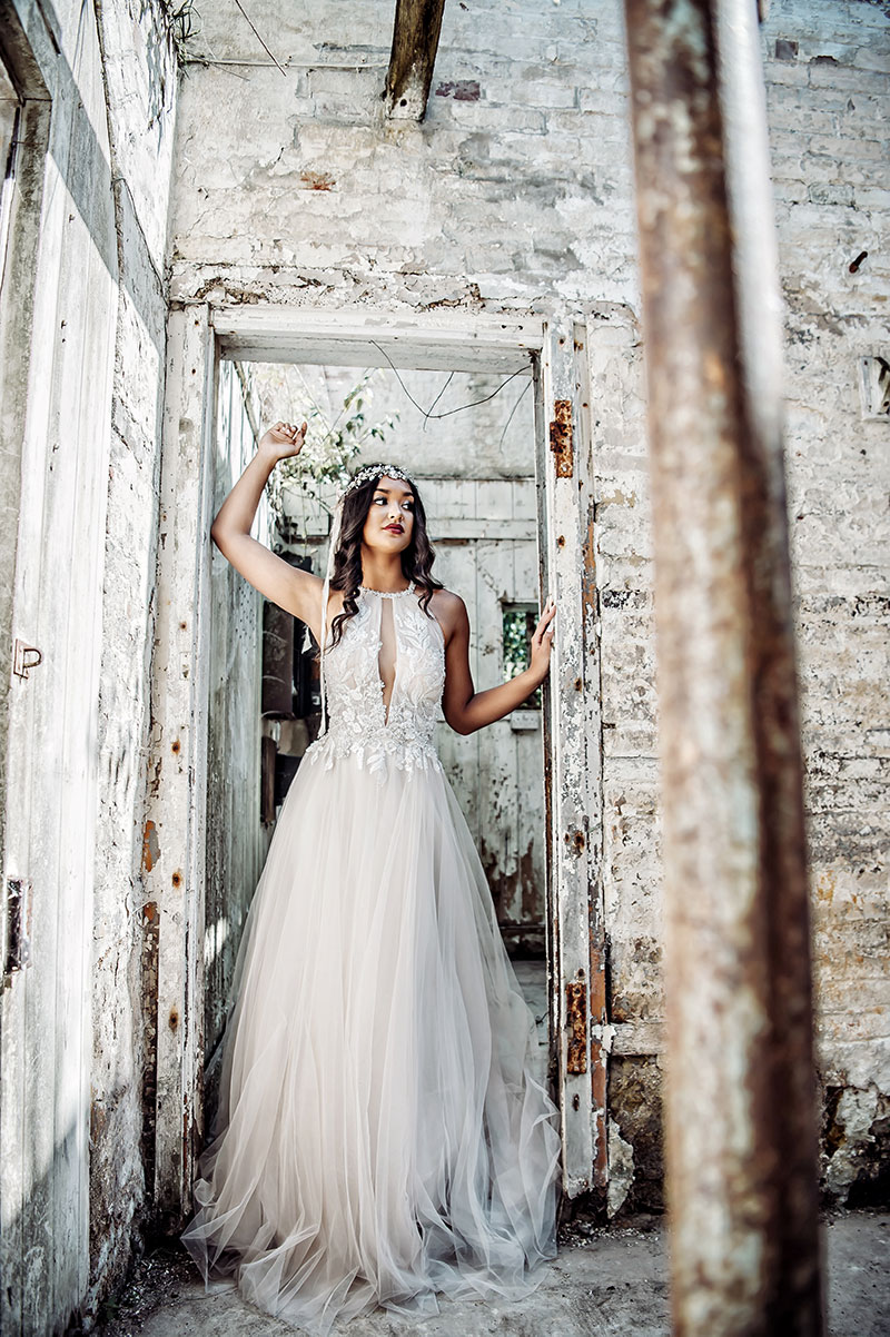 A dreamy boho gown by Eddy K Italia