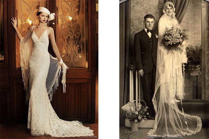 Be Inspired by Wedding Dress Styles Over the Years. Desktop Image