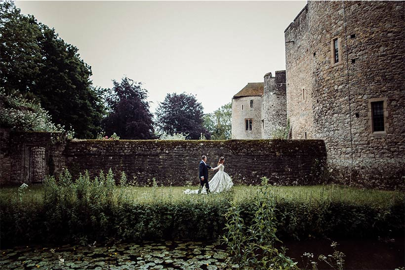 Antonella's fairytale castle wedding in Ian Stuart wedding dress. Desktop Image